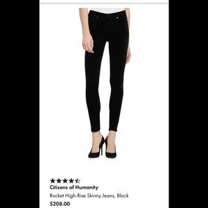 Citizens of Humanity Black High Rise Rocket Skinny